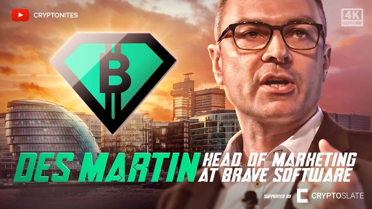 Des Martin de Brave habla de Bitcoin como Web 3.0, tokenizando la web y por qué los bancos son dinosaurios