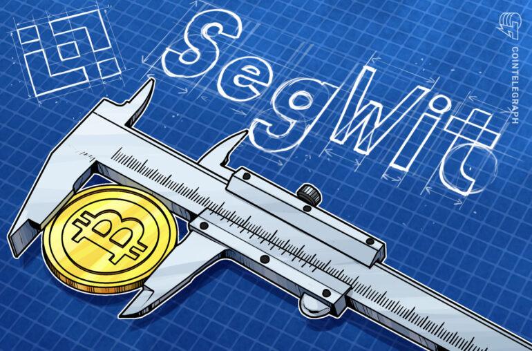 Binance permite el soporte de SegWit para depósitos de Bitcoin a medida que crece la adopción