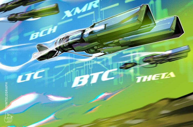 Las 5 principales criptomonedas a tener en cuenta esta semana: BTC, LTC, BCH, XMR, THETA