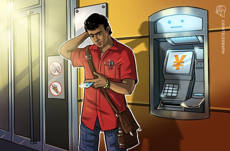 Banco estatal chino lanza cajeros automáticos para yuanes digitales
