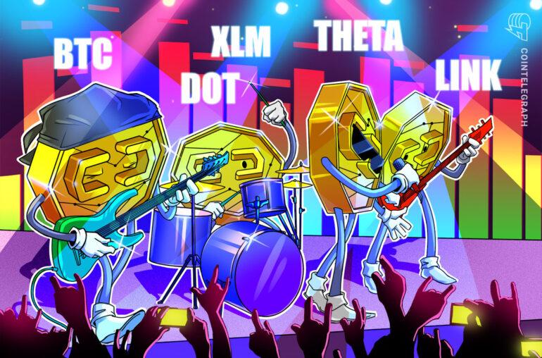 Las 5 principales criptomonedas a tener en cuenta esta semana: BTC, DOT, LINK, XLM, THETA