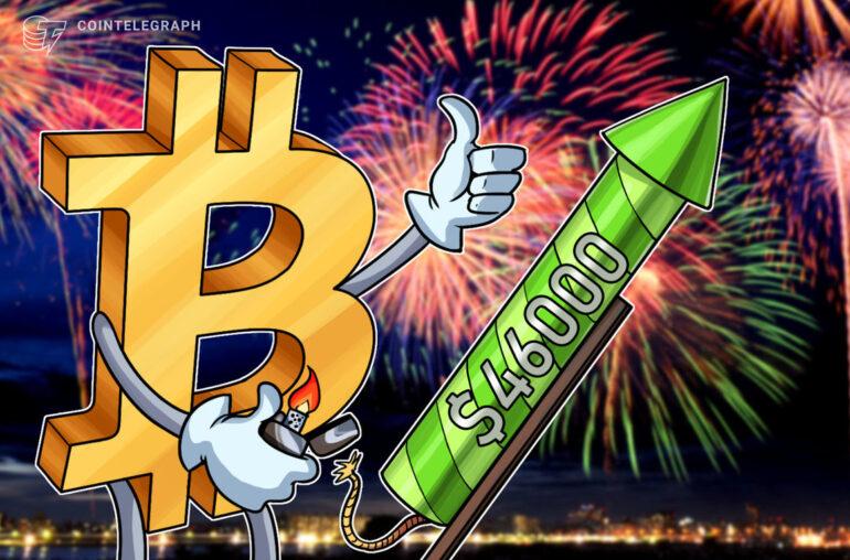 El precio de Bitcoin alcanza los $ 46,794 a medida que las altcoins y las acciones suben a nuevos máximos