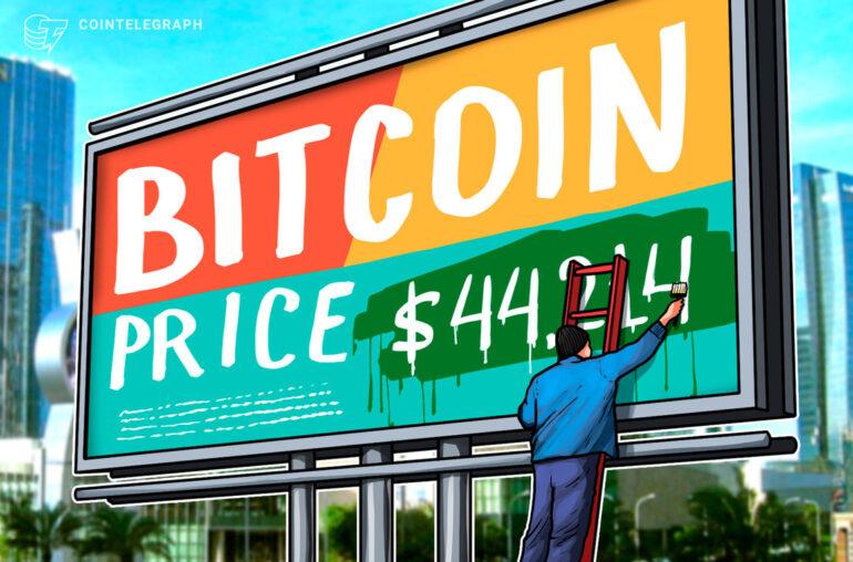 Los grupos de ballenas de Bitcoin señalan $ 44,214 como el nivel de precios clave a corto plazo