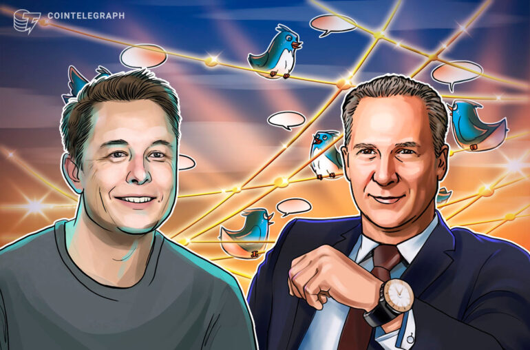 """Elon Musk dice que los precios de BTC y ETH son """"altos"""" mientras se sumerge en Peter Schiff"""