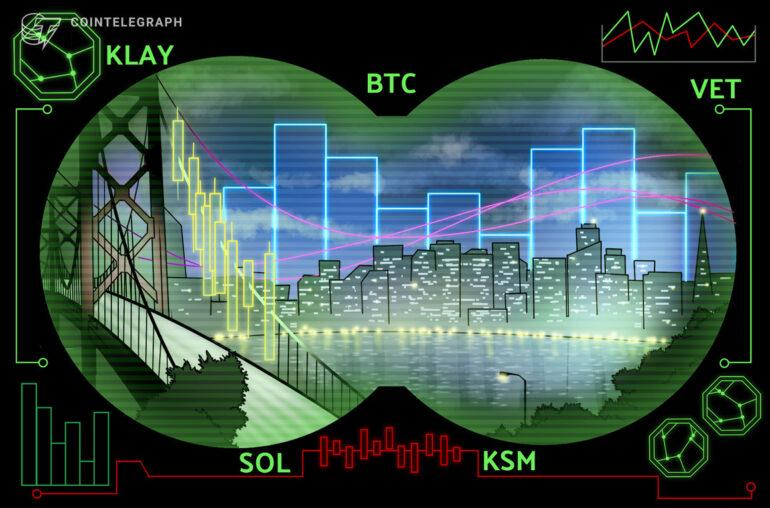 Las 5 principales criptomonedas a tener en cuenta esta semana: BTC, KLAY, VET, SOL, KSM