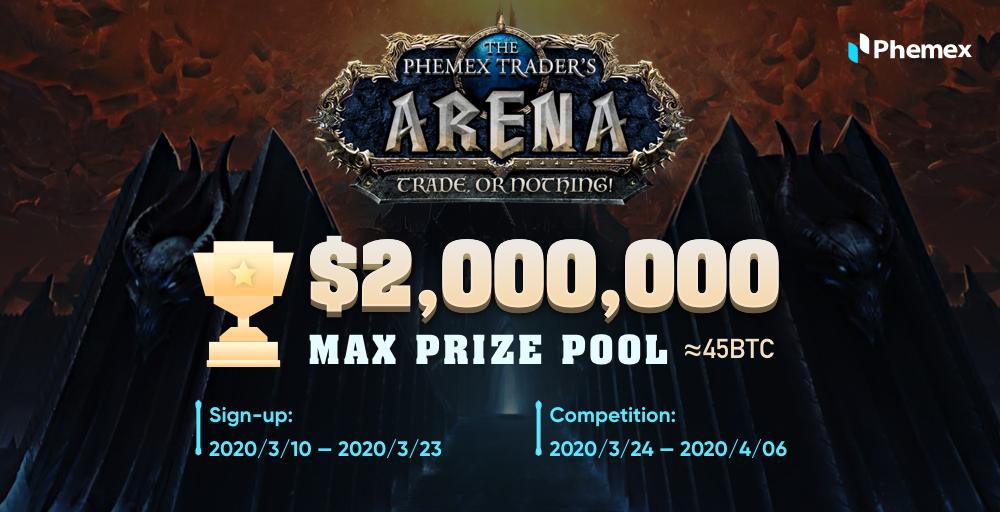 Phemex Trader's Arena: competencia con un premio acumulado de hasta $ 2,000,000
