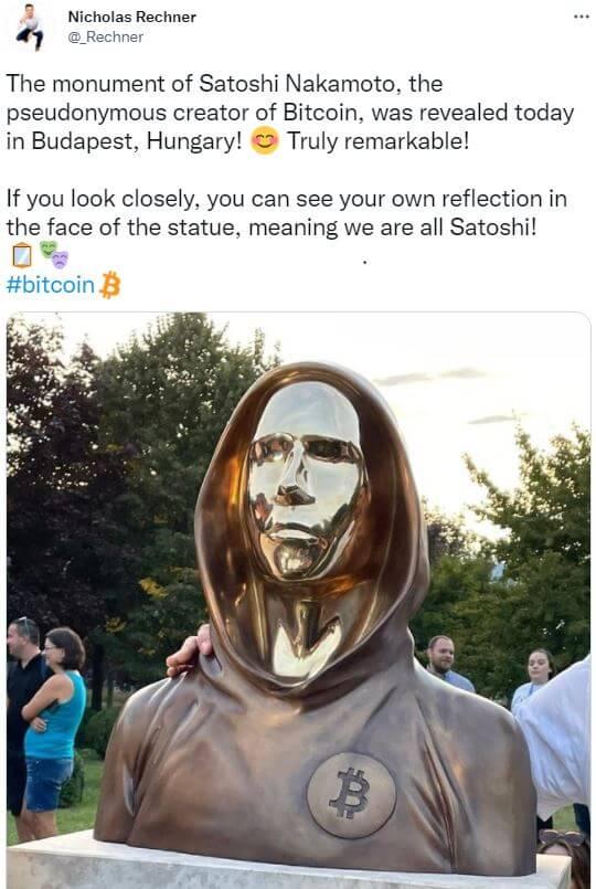 estatua de bitcoin