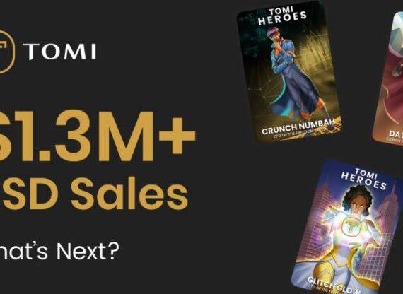 El volumen de ventas de Tomi NFT supera los 1,5 millones de dólares con un potencial de retorno de la inversión masivo para la venta de TOMI