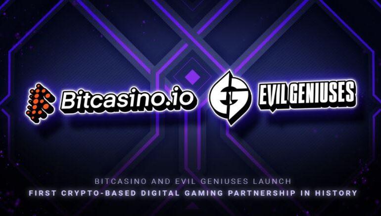 Bitcasino y Evil Geniuses lanzan la primera asociación de juegos digitales basada en cripto